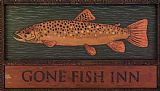 Warren Kimble Gone Fish Inn painting