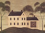 Warren Kimble House with Quilt painting