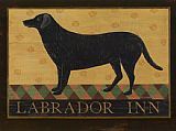 Warren Kimble Labrador Inn painting