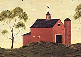 Warren Kimble Red Barn painting