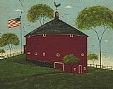 Warren Kimble Round Barn painting