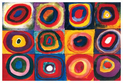 Wassily Kandinsky Color Study of Squares