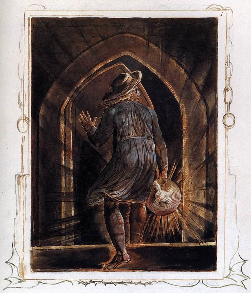William Blake Los Entering the Grave