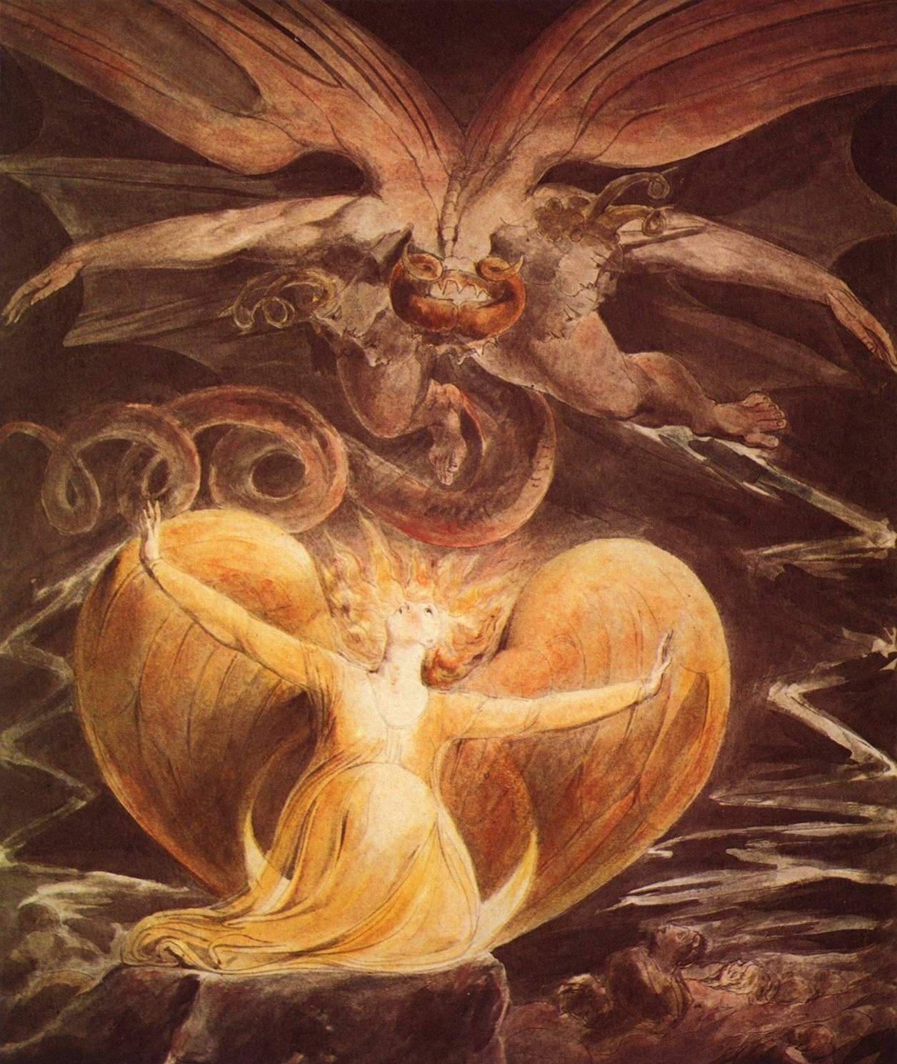 William Blake The Great Red Dragon and the Woman Clothed with Sun