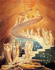 funny paintings - Jacob's Ladder by William Blake