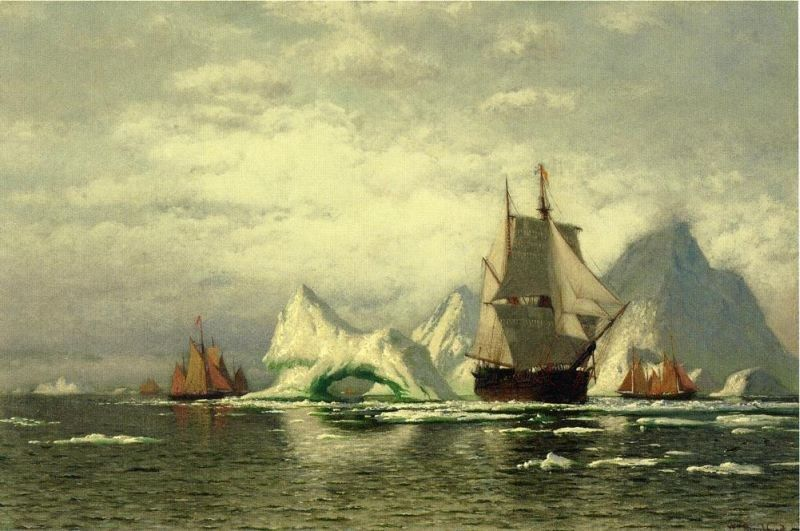 William Bradford Arctic Whaler Homeward Bound Among the Icebergs