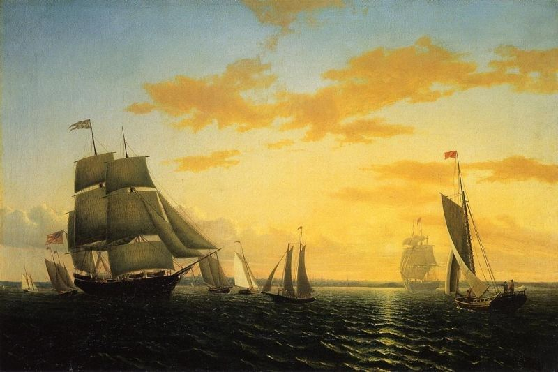 William Bradford New Bedford Harbor at Sunset