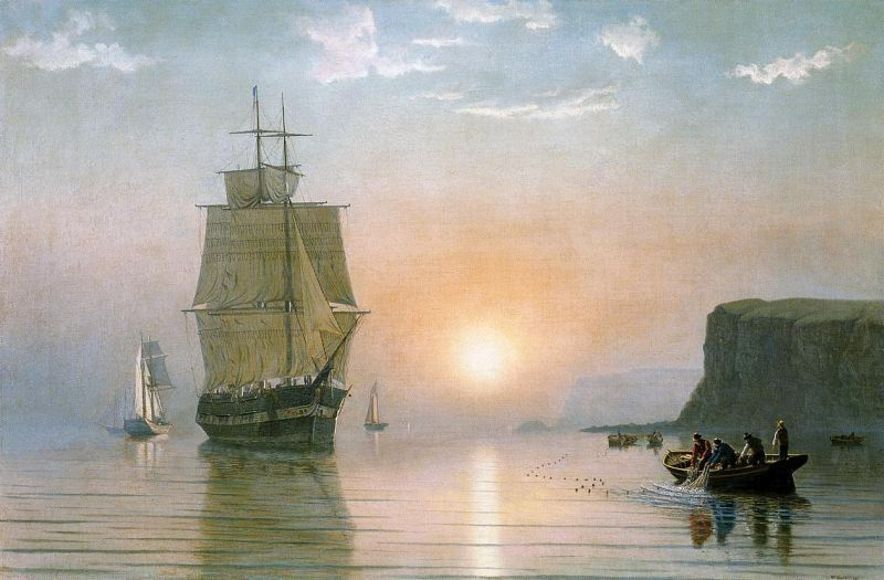 William Bradford Sunrise off Grand Manan
