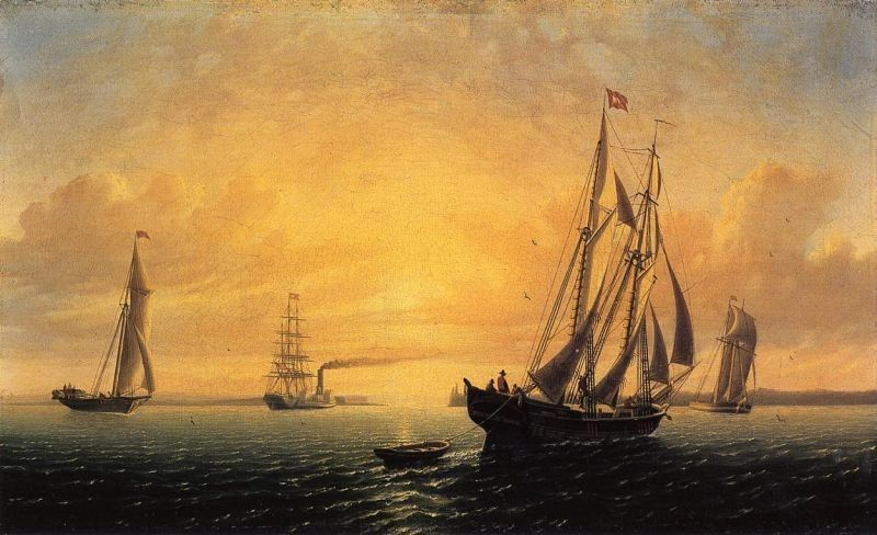 William Bradford The Schooner 'Jane' of Bath, Maine