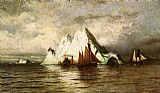William Bradford Fishing Boats and Icebergs painting