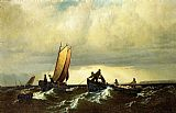 William Bradford Fishing Boats on the Bay of Fundy i painting