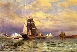 William Bradford Looking out of Battle Harbor painting