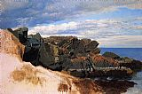 William Bradford Rock Study at Nahant, Massachusetts painting