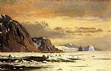 William Bradford Seascape with Icebergs painting