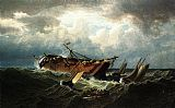 William Bradford Shipwreck off Nantucket painting