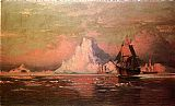 William Bradford Whalers After the Nip in Melville Bay painting