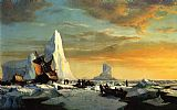 William Bradford Whalers Trapped by Arctic Ice painting