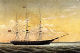 William Bradford Whaleship 'Jireh Perry' off Clark's Point, New Bedford painting