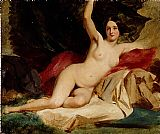 William Etty Female Nude in a Landscape painting