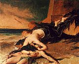 William Etty Hero and Leander painting