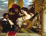 William Etty The Duet painting