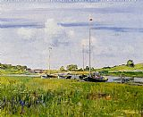 William Merritt Chase At The Boat Landing painting