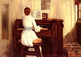 William Merritt Chase Mrs. Meigs at the Piano Organ painting
