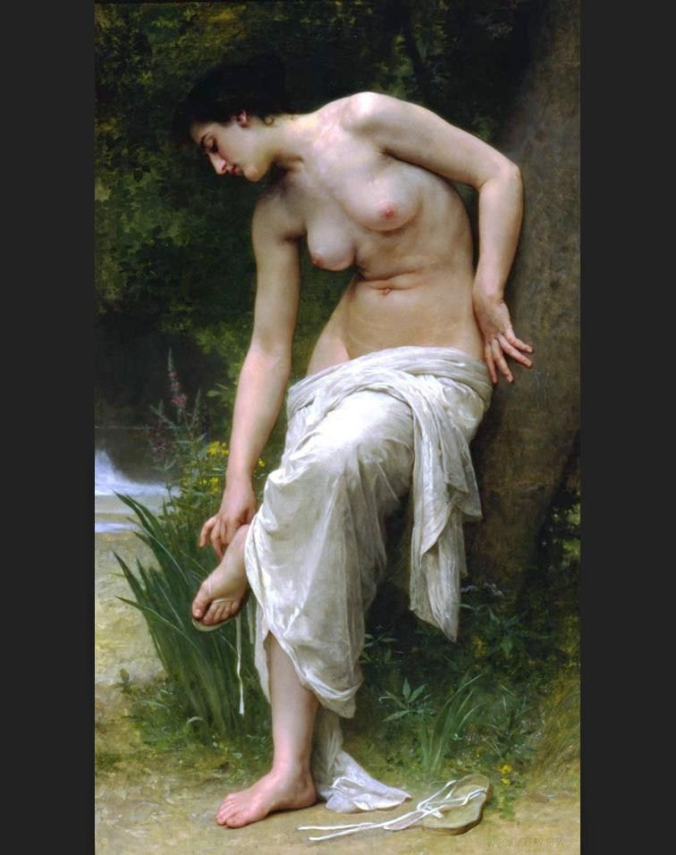 William Bouguereau After the Bath