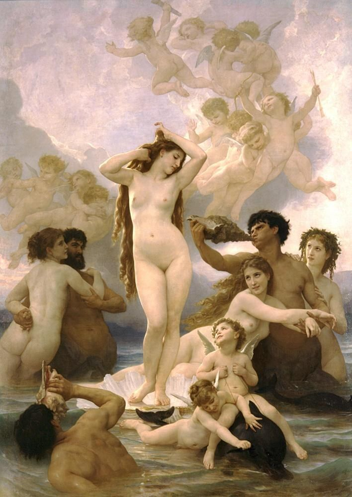 William Bouguereau Birth of Venus