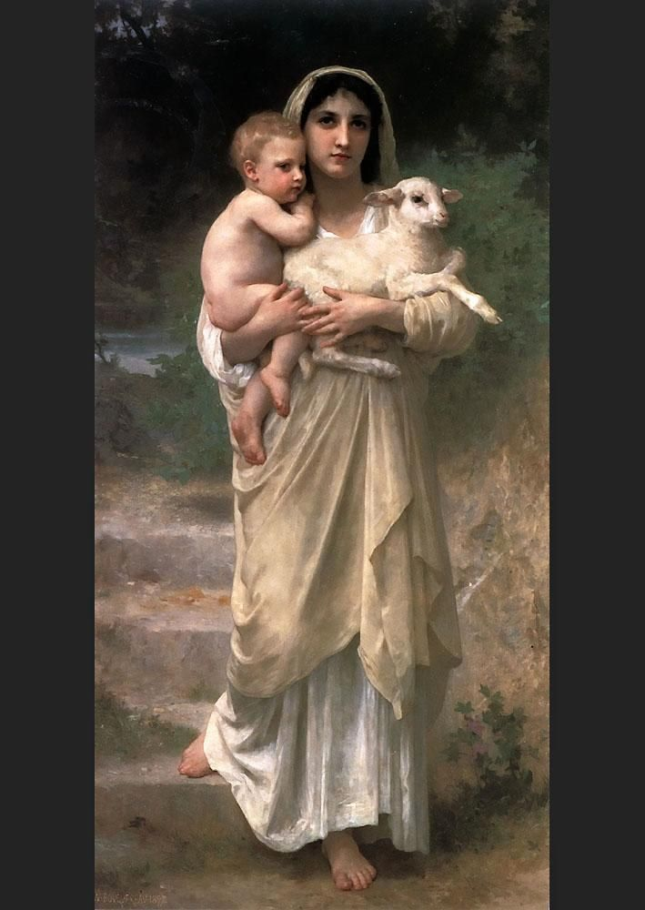 William Bouguereau Lambs