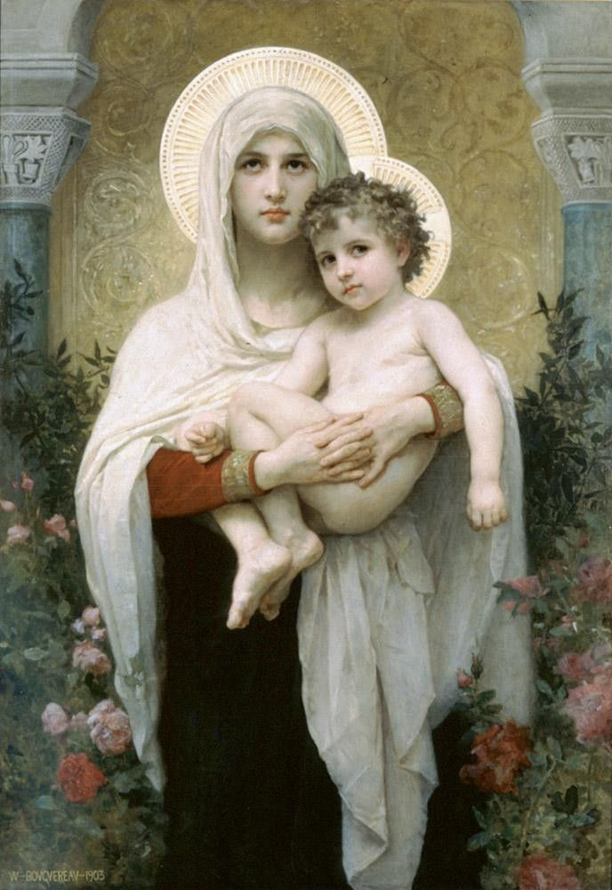 William Bouguereau The Madonna of the Roses