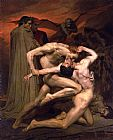 William Bouguereau Dante and Virgil in Hell painting