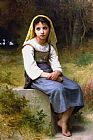 William Bouguereau Meditation painting