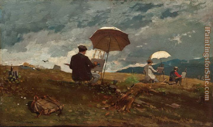 Winslow Homer Artists Sketching in the White Mountains