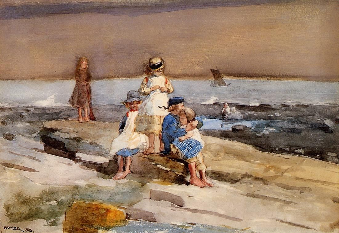 Winslow Homer Children on the Beach