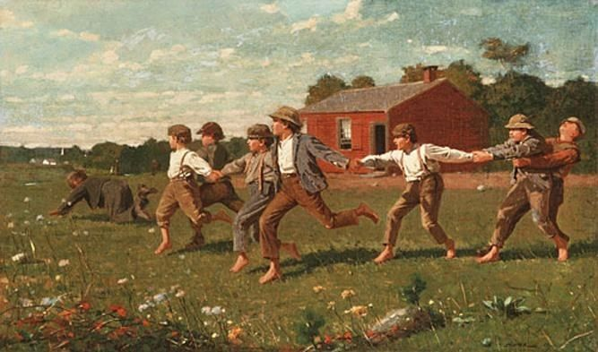 Winslow Homer Snap the Whip