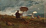 Winslow Homer Artists Sketching in the White Mountains painting