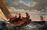 Winslow Homer Breezing Up painting