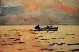 Winslow Homer Rowing Home painting