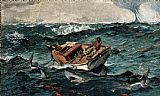 Winslow Homer The Gulf Stream painting
