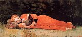 Winslow Homer The New Novel painting