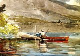 Winslow Homer The Red Canoe i painting