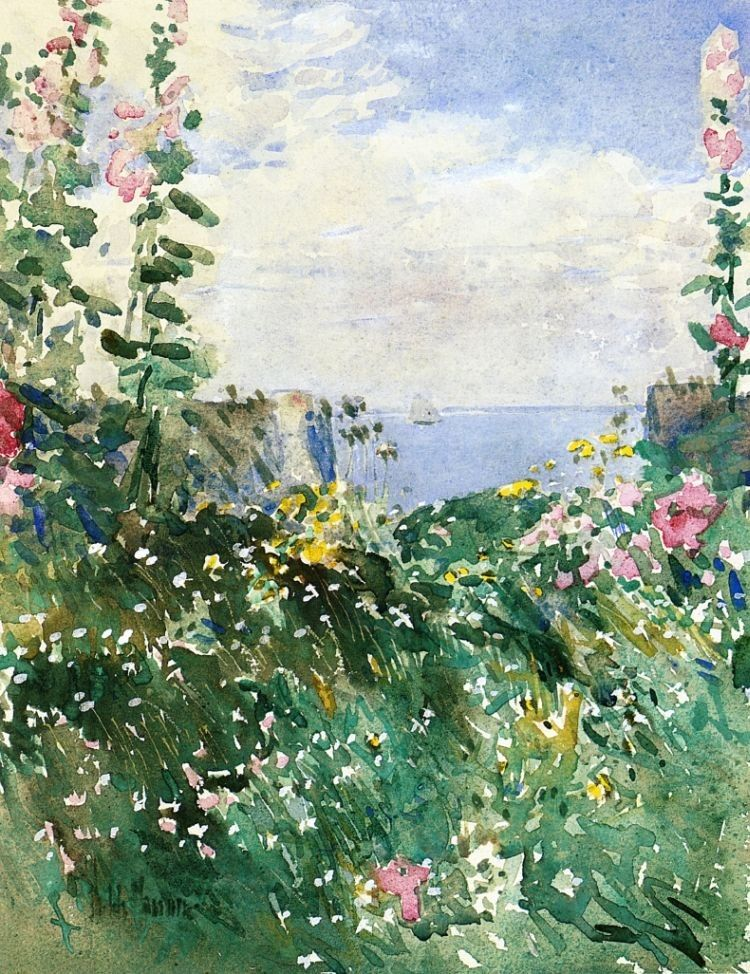 childe hassam Isles of Shoals Garden, Appledore