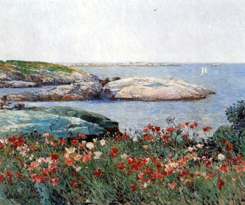 childe hassam Poppies Isles of Shoals