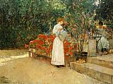 childe hassam After Breakfast painting