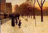 Street paintings - Boston Common at Twilight by childe hassam