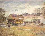 childe hassam End of the Trolley Line painting
