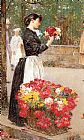 childe hassam Flower Girl painting