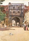 childe hassam Gateway at Canterbury painting