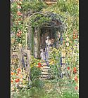 childe hassam Isles of Shoals Garden painting